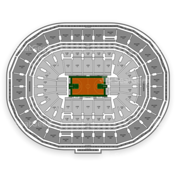 Boston Celtics at TD Garden Section 1 View