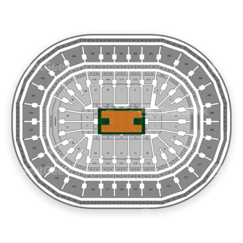 Boston Celtics at TD Garden Section 323 View