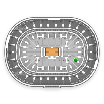 Boston Celtics at TD Garden Section 19 View
