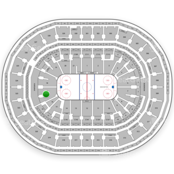 Boston Bruins at TD Garden Section Loge 17 View