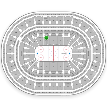 Boston Bruins at TD Garden Section Loge 21 View