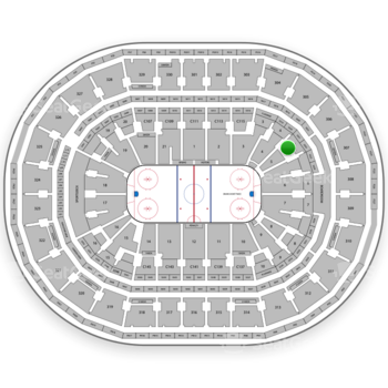 Boston Bruins at TD Garden Section Loge 5 View