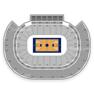 INTRUST Bank Arena Seating Chart NCAA Basketball