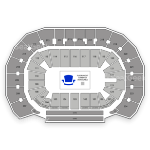 Intrust Bank Arena Seating Chart NCAA Football