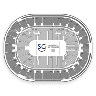 SAP Center Seating Chart NBA