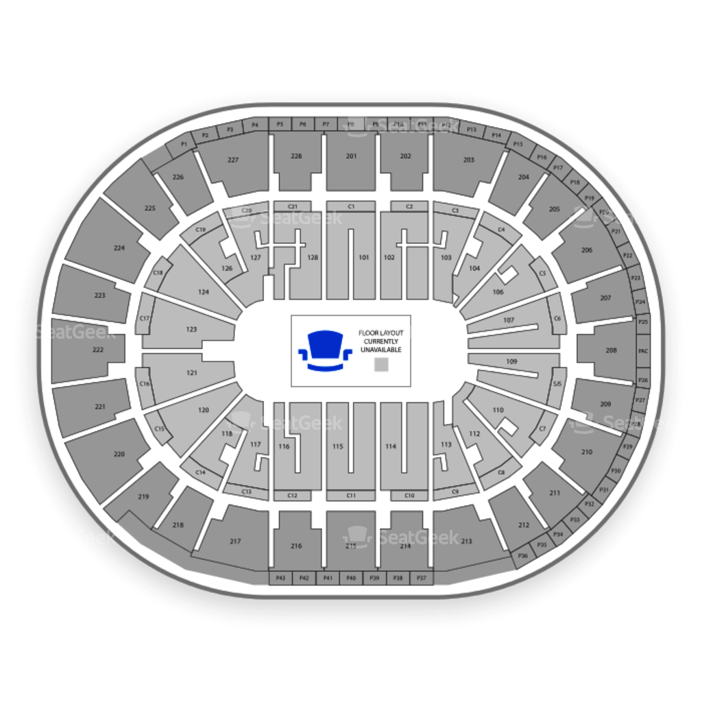 San jose sharks seating chart interactive map seatgeek