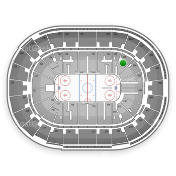 San Jose Sharks at SAP Center Section 104 View