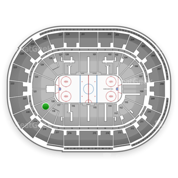 San Jose Sharks at SAP Center Section 120 View