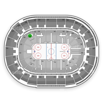 San Jose Sharks at SAP Center Section 126 View