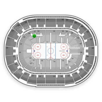 San Jose Sharks at SAP Center Section 127 View