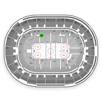 San Jose Sharks at SAP Center Section 128 View