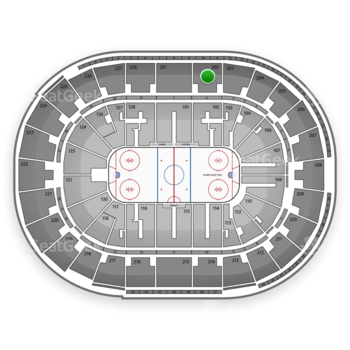 San Jose Sharks at SAP Center Section 202 View
