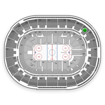 San Jose Sharks at SAP Center Section 205 View