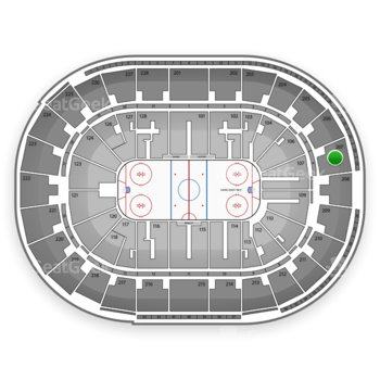 San Jose Sharks at SAP Center Section 207 View