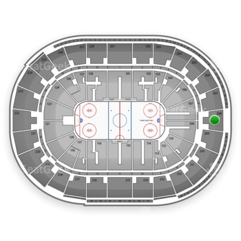 San Jose Sharks at SAP Center Section 208 View