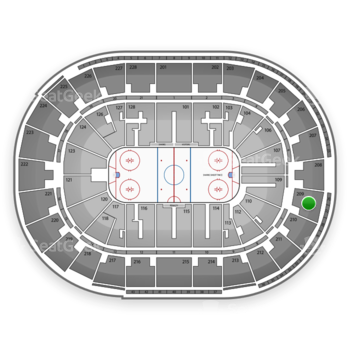 San Jose Sharks at SAP Center Section 209 View