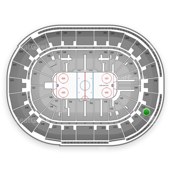 San Jose Sharks at SAP Center Section 210 View