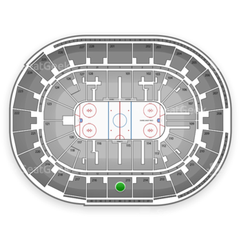 San Jose Sharks at SAP Center Section 215 View