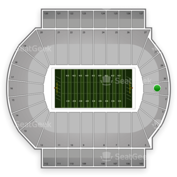 Michigan State Spartans Football at Spartan Stadium Section 1 View