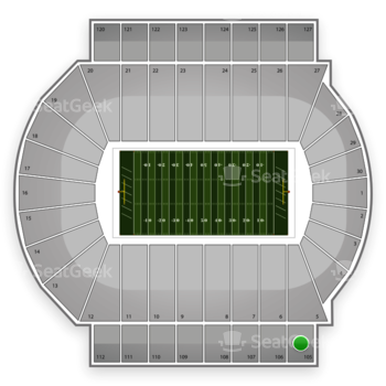 Michigan State Spartans Football at Spartan Stadium Section 105 View