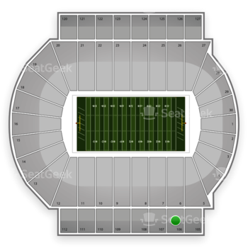 Michigan State Spartans Football at Spartan Stadium Section 106 View