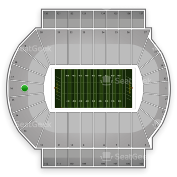 Michigan State Spartans Football at Spartan Stadium Section 16 View