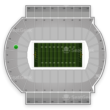 Michigan State Spartans Football at Spartan Stadium Section 17 View