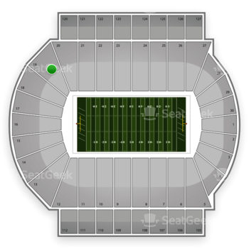 Michigan State Spartans Football at Spartan Stadium Section 19 View