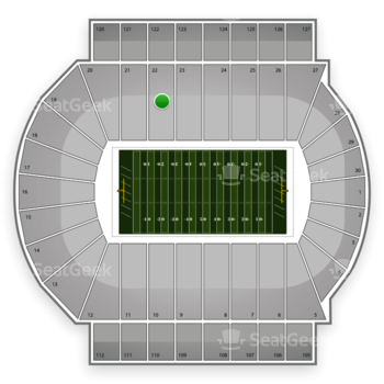 Michigan State Spartans Football at Spartan Stadium Section 22 View