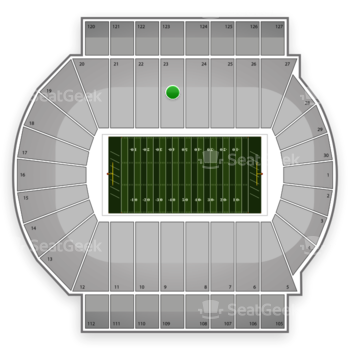 Michigan State Spartans Football at Spartan Stadium Section 23 View