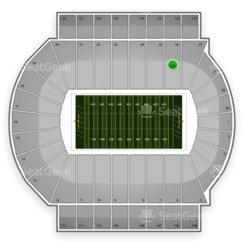 Michigan State Spartans Football at Spartan Stadium Section 26 View