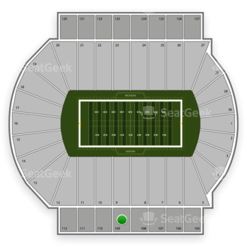 Michigan State Spartans Football at Spartan Stadium Section 109 View