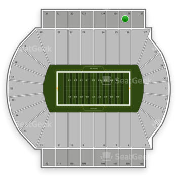 Michigan State Spartans Football at Spartan Stadium Section 126 View