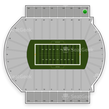 Michigan State Spartans Football at Spartan Stadium Section 127 View