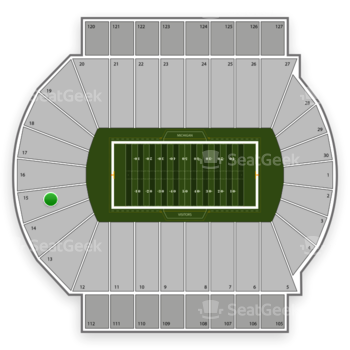 Michigan State Spartans Football at Spartan Stadium Section 15 View
