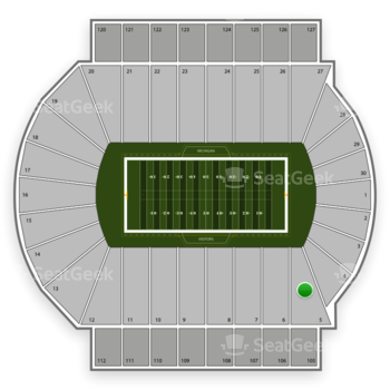 Michigan State Spartans Football at Spartan Stadium Section 5 View
