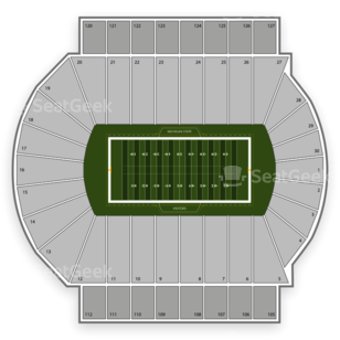 Michigan State Spartans Football Seating Chart