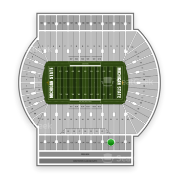 Michigan State Spartans Football at Spartan Stadium (Michigan) Section 121 View