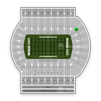Michigan State Spartans Football at Spartan Stadium (Michigan) Section 13 View