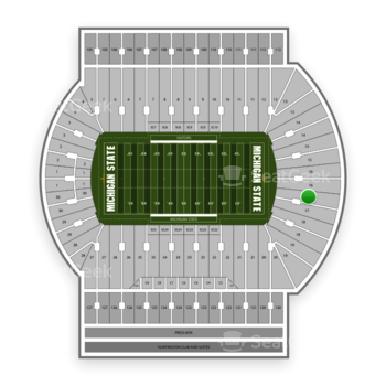 Michigan State Spartans Football at Spartan Stadium (Michigan) Section 17 View