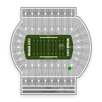 Michigan State Spartans Football at Spartan Stadium (Michigan) Section 20 View