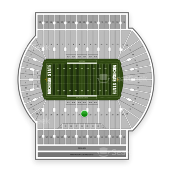 Michigan State Spartans Football at Spartan Stadium (Michigan) Section 23 View