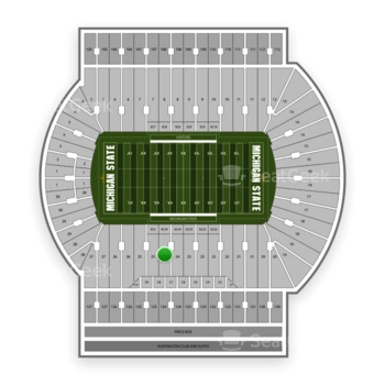 Michigan State Spartans Football at Spartan Stadium (Michigan) Section 24 View