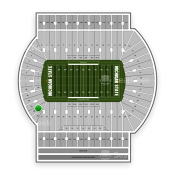 Michigan State Spartans Football at Spartan Stadium (Michigan) Section 28 View