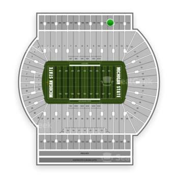 Michigan State Spartans Football at Spartan Stadium Section 111 View