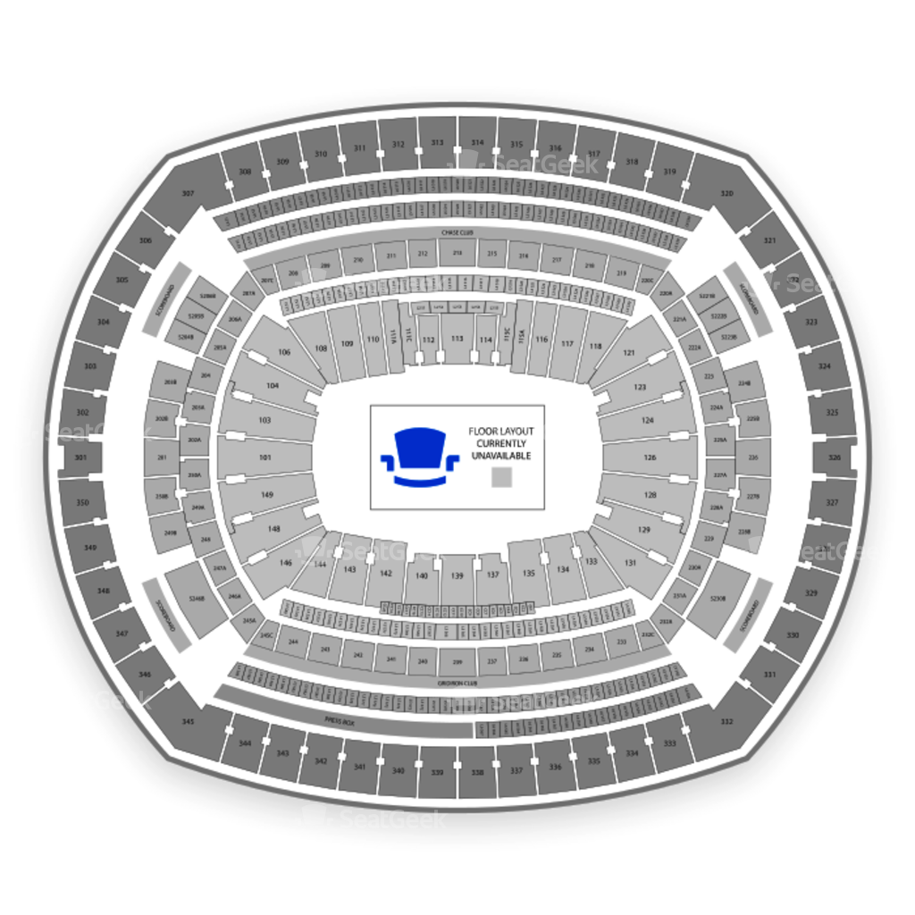 Metlife stadium seating chart seatgeek