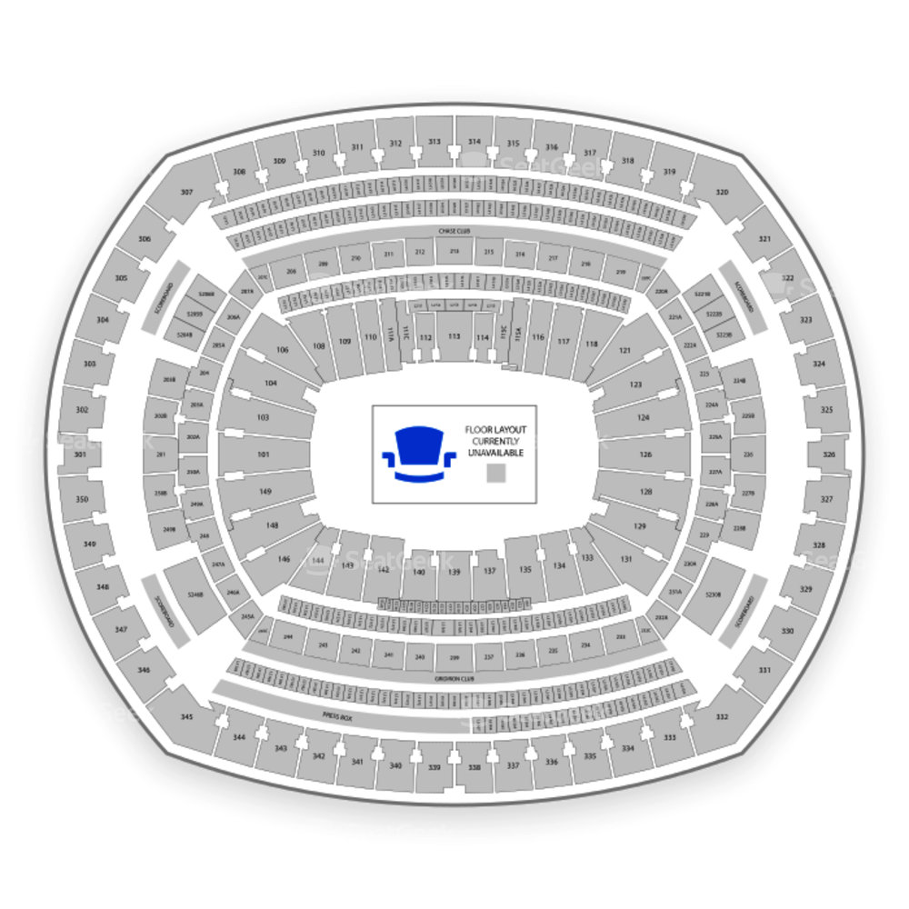 MetLife Stadium Seating Chart Parking