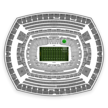 NFL at MetLife Stadium Section 116 View