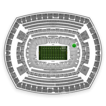 NFL at MetLife Stadium Section 123 View