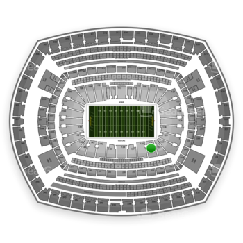 NFL at MetLife Stadium Section 134 View